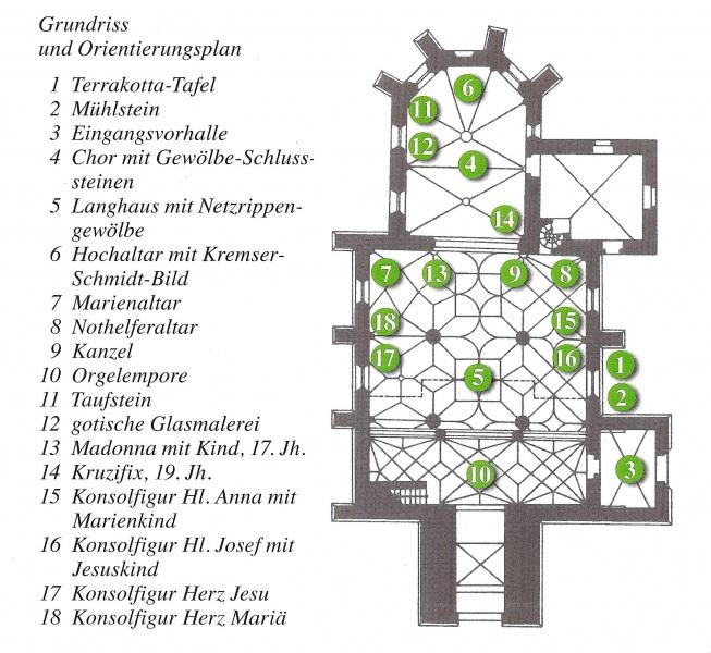 Grundriss Kirche