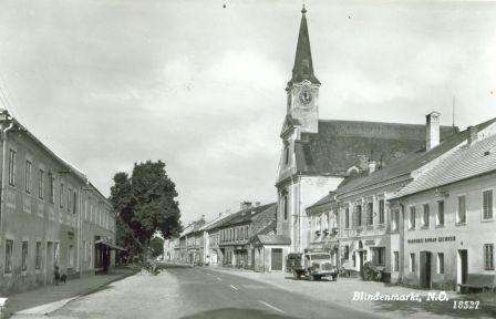 alte Ansicht Kirche Blindenmarkt