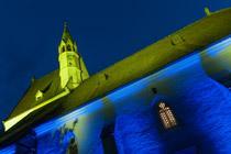 Nikolauskirche bei Nacht