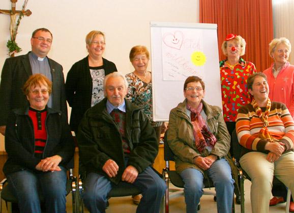 Teilnehmer am Lachseminar