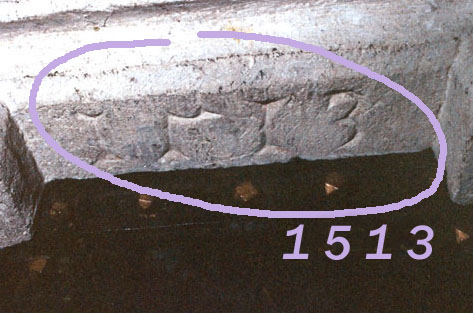 1513 im Sakristeiportal
